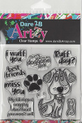 Dare 2B Artzy Ruff Day Clear Cling Dog Rubber Stamp Set