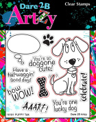 Dare 2B Artzy Puppy Talk (16191) Clear Cling Rubber Stamps