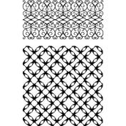 Ultimate Crafts Background Stamps 10cm x 15cm -Jewelled Lattice