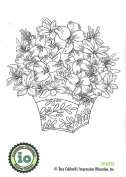 Impression Obsession Amaryllis Arrangement Cling Rubber Stamp H16231