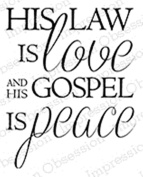 Impression Obsession His Law Cling Rubber Stamp D14558