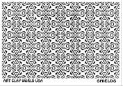 Flexistamps Texture Sheets Shields Design - 1 Pc.