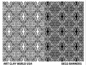 Art Clay World USA Low Relief Texture Deco Banners - 1 Pc.