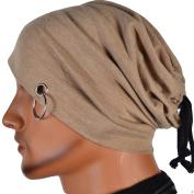 Qingsun Unisex Men Ring Lacing Beanie Thin Hip-hop Skull Cap hat