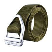 TACVASEN Men's Military Style Army Tactical Nylon Webbing Adjustable Buckle Belt