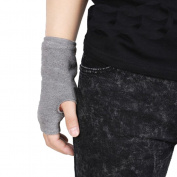 Unisex ZWS130 Elastic Knitted Warm Autumn and Winter Half Finger Fingerless Gloves
