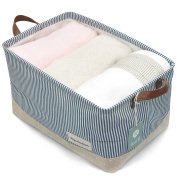 Organising Baskets for Clothing Storage - Storage Baskets Made From Eco-friendly Cotton. Works As Fabric Drawer, Baby Storage, Toy Storage. Nursery Baskets Fit Most Shelves