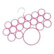 18 Hole Non Slip Rubber Coated Hanging Closet Scarf Hanger ~ Jewellery Hanger