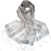 gloednApple Fashion Womens Sheer Glitter Sparkle Shawl Wrap Fringe Prom Weddings Evening Scarfs