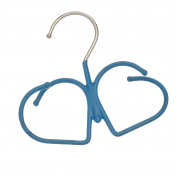 Heart Design Non Slip Rubber Coated Hanging Closet Scarf Hanger ~ Jewellery Hanger