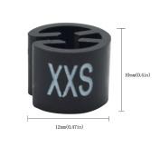 Meta-U Black Garment Hanger White Print Coat Sizer XXS Size Marker Letter Tags