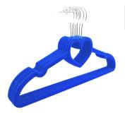 Ospard Durable Velvet Clothes Hangers Blue