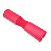 Whosee Red Weight Lifting Barbell Neck Protective Shoulder Back Support Roll Gel Gym Padded