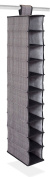 Internet's Best 10 Tier Hanging Shoe Organiser | Narrow Shelf Closet Shoe Rack | Footwear Storage | Grey