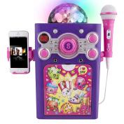 Shopkins Disco Ball Karaoke Machine Features a Lightweight Microphone and Vibrant Disco Ball