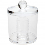 ARAD Clear Acrylic Cotton Ball And Cotton Swab Jar Holder For Bathroom Toiletries