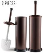 Estilo EST0105B-2 Stainless steel Toilet Brush & Holder, Bronze (Pack of 2),,