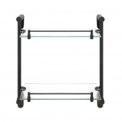 MODONA Double Glass Shelf with Rail – Rubbed Bronze – Oval Series - 5 Year Warrantee