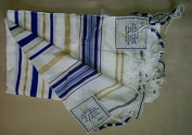 New Covenant Christian Sign Messianic Seal Prayer Shawl Talit / Talis Hebrew English 180cm *60cm with Matching Bag by Jerusalem