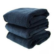 Chemical Guys MIC_805_3 Monster Edgeless Microfiber Towel, Black (41cm . x 41cm .)