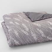 Oake Briar Twin Comforter Cover Grey