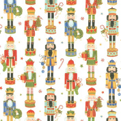 Entertaining with Caspari Continuous Roll of Gift Wrapping Paper, Nutcracker Parade, 2.4m, 1-Roll