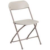 Flash Furniture Hercules Series 360kg Premium Plastic Folding Chair, Beige