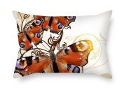 PaPaver 18 X 26 Inches / 45 By 65 Cm Butterfly Cushion Covers Double Sides Is Fit For Club Bench Relatives Dining Room Bench Kitchen