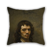 PaPaver Oil Painting Carel Fabritius - Self-Portrait Christmas Pillowcover Best For Shop Family Monther Deck Chair Her Teens Girls 20 X 20 Inches / 50 By 50 Cm