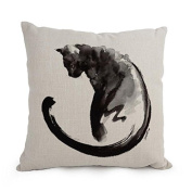 PaPaver Cat Christmas Pillow Cases Best For Husband Couples Boy Friend Club Lover Monther 18 X 18 Inches / 45 By 45 Cm