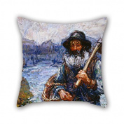 PaPaver Oil Painting John Peter Russell - Mon Ami 'Polite Christmas Pillowcover Best For Bedroom Family Monther Sofa Christmas Wedding 20 X 20 Inches / 50 By 50 Cm