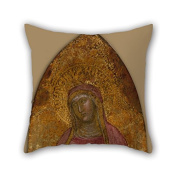 PaPaver Throw Christmas Pillow Covers Of Oil Painting Andrea Da Firenze - Saint Elizabeth Of Hungary For Floor Living Room Teens Couples Play Room Pub 16 X 16 Inches / 40 By 40 Cm