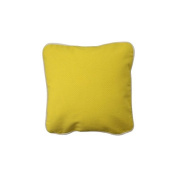 Pillow Yellow With Green Eco Friendly Insert 12 x 12