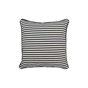 Pillow Navy Stripes With Green Eco Friendly Insert 12 x 12