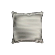 Pillow Grey Stripes With Green Eco Friendly Insert 16 x 16