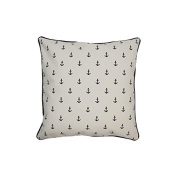 Pillow Navy Anchors With Green Eco Friendly Insert 16 x 16