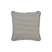 Pillow Grey Stripes With Green Eco Friendly Insert 12 x 12