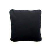 Pillow Black With Green Eco Friendly Insert 16 x 16