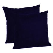 MoonRest - Faux Suede Decorative Pillow Shams Solid Colours (Set of 2)