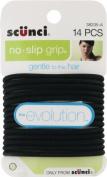 Scunci The Evolution No Slip Grip Gel Hair Ties Black - 14 CT by Scunci