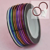 Beauties Factory BF 32 pcs Rolls Nail Striping Tape Nail Art Decoration Stickers 16 Colours #512X