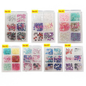 Vanessa Nail Decoration Colourful Stone 6 kinds in One Nail Art Stones