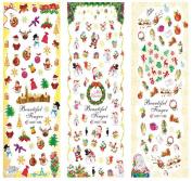 Leoy88 1 Sheet Christmas Nail Art Decal Sticker