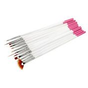 Sanwood 12x Nail Art Polish Painting Draw Brush Pens Beauty Tool
