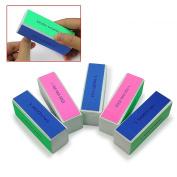 5pcs Yonger Nail Art Shiner Buffer 4 Ways Polish Sanding File Block Manicure Product