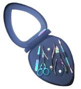 Princess Care Vip TR Heart Manicure Pedicure Set Kit, Titanium Rainbow, 410ml