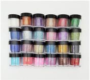 XICHEN 24 Colour Glitter Powder Dust Nail Art glitter powder Tips decoration Jumbo Size