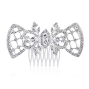 WINOMO Crystal Heart Shaped Hair Combs Accessories Hair Clips Beauty Tools