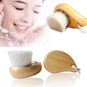 CINEEN Wood Base Facial Wash Pore Brush Body Care with 450000 Fibre Wool