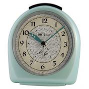 Rhythm Alarm Clock with Sound of Birds in Increase, Green - 4se445wr05